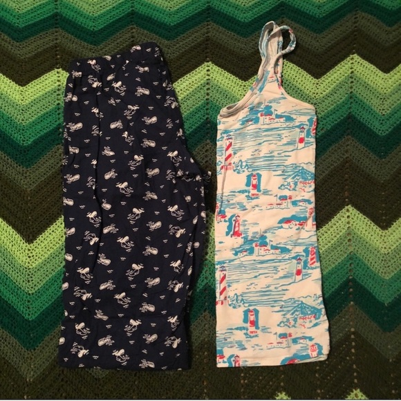 Old Navy Other - NWOT Old Navy pajama pants whales navy ribbon tie